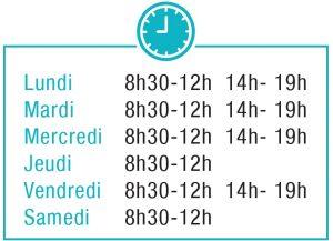 Horaires d'ouverture de la clinique